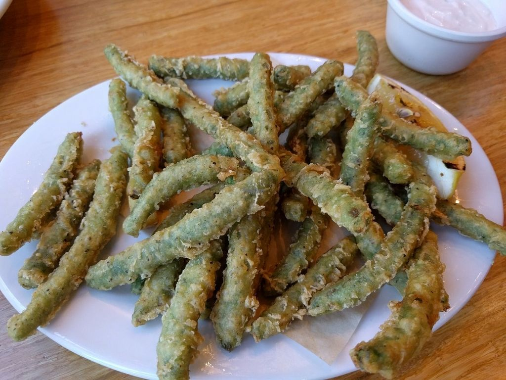 """Photo of Veggie Grill  by <a href=""""/members/profile/Sonja%20and%20Dirk"""">Sonja and Dirk</a> <br/>tempura green beans <br/> August 14, 2016  - <a href='/contact/abuse/image/67031/168699'>Report</a>"""