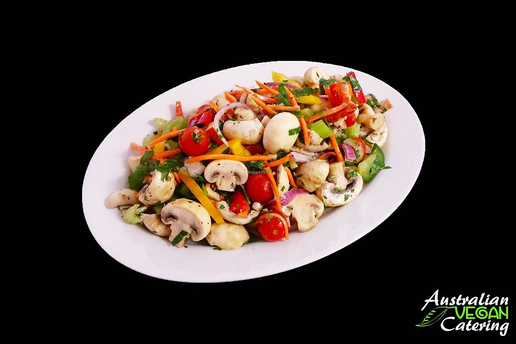 "Photo of Australian Vegan Catering  by <a href=""/members/profile/verbosity"">verbosity</a> <br/>Mushroom Salad <br/> May 16, 2018  - <a href='/contact/abuse/image/67048/400714'>Report</a>"