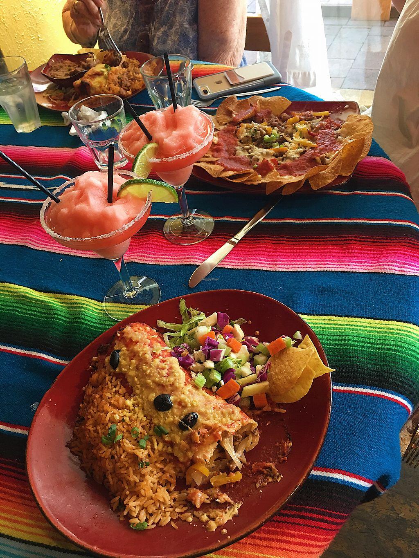 "Photo of Montezuma's  by <a href=""/members/profile/jxshstevens"">jxshstevens</a> <br/>Vegan burrito + nachos with frozen watermelon cocktails :)  <br/> March 18, 2018  - <a href='/contact/abuse/image/67052/372193'>Report</a>"