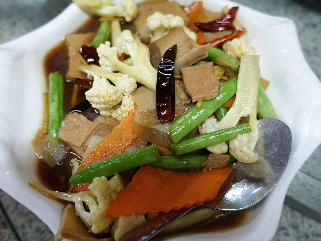 """Photo of Lanmadaw Vegetarian Restaurant  by <a href=""""/members/profile/JimmySeah"""">JimmySeah</a> <br/>stirred fried vegetables <br/> December 21, 2015  - <a href='/contact/abuse/image/67062/129371'>Report</a>"""