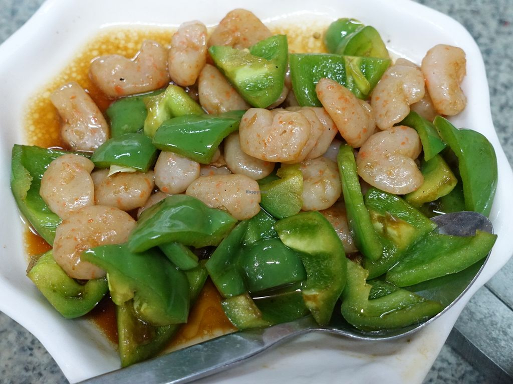 """Photo of Lanmadaw Vegetarian Restaurant  by <a href=""""/members/profile/JimmySeah"""">JimmySeah</a> <br/>Capsicum and mock prawn <br/> December 21, 2015  - <a href='/contact/abuse/image/67062/129372'>Report</a>"""