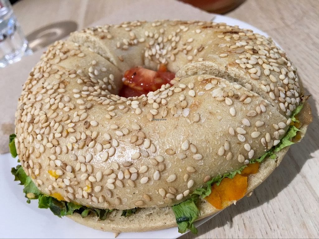 """Photo of Goodies Berlin - Kreuzberg   by <a href=""""/members/profile/marky_mark"""">marky_mark</a> <br/>mushroom bagel <br/> March 21, 2016  - <a href='/contact/abuse/image/67070/140806'>Report</a>"""