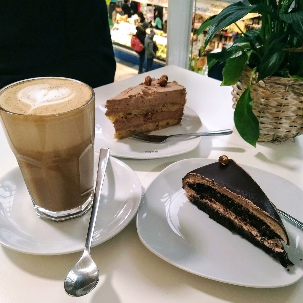 """Photo of Goodies Berlin - Kreuzberg   by <a href=""""/members/profile/Zjef"""">Zjef</a> <br/>chai latte, hazelnut pie & Bailey's pie <br/> April 15, 2018  - <a href='/contact/abuse/image/67070/386104'>Report</a>"""