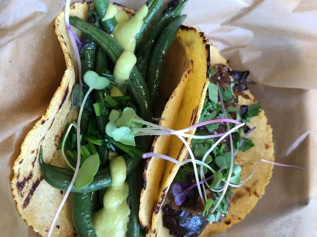 "Photo of Chaia  by <a href=""/members/profile/cookiem"">cookiem</a> <br/>2 vegan tacos - eggplant and charred string beans <br/> August 15, 2016  - <a href='/contact/abuse/image/67106/191784'>Report</a>"