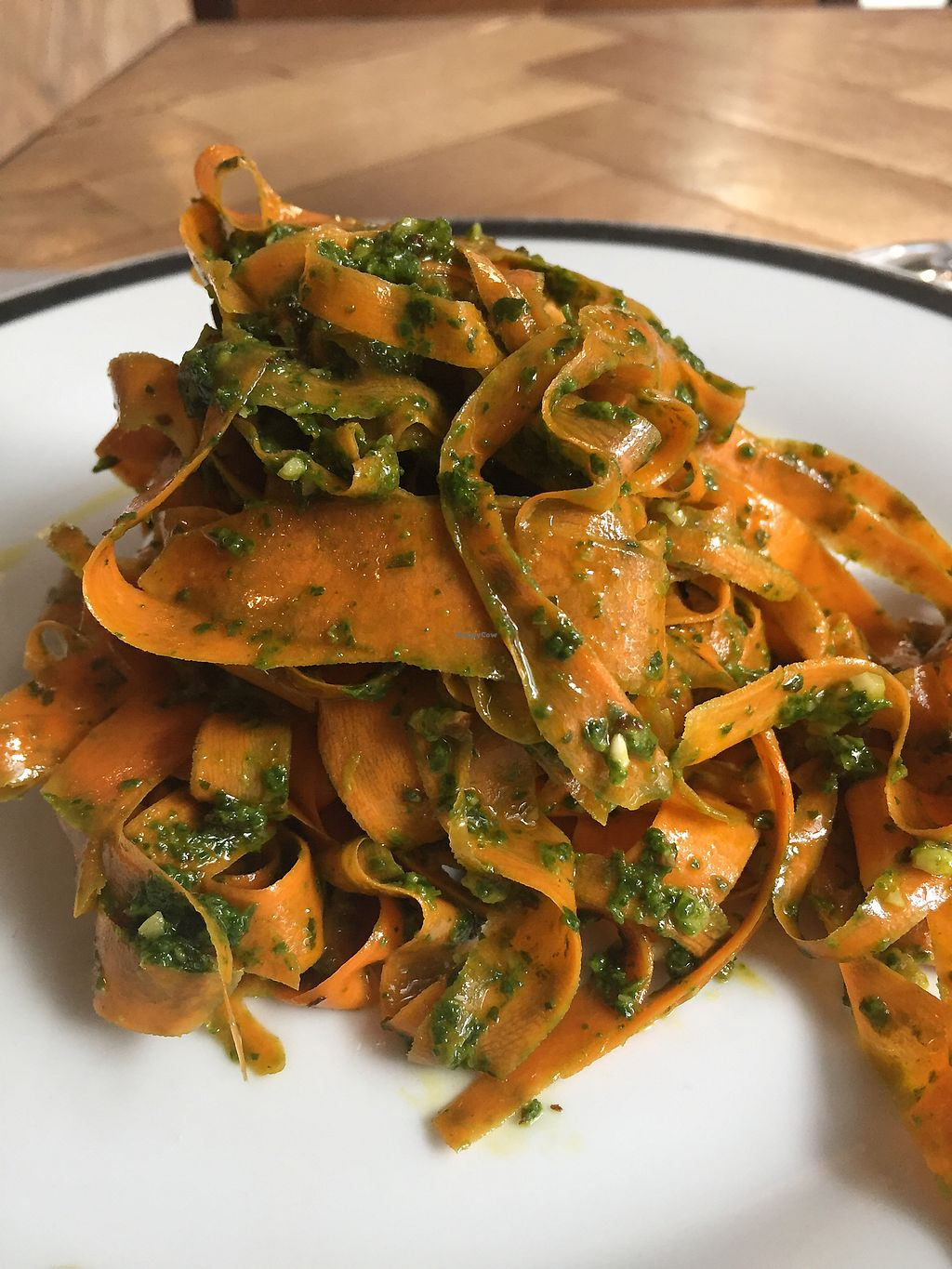 "Photo of Ecru  by <a href=""/members/profile/Antarius"">Antarius</a> <br/>Carrot Tagliatelle with Rucola Pesto <br/> October 2, 2017  - <a href='/contact/abuse/image/67136/310962'>Report</a>"