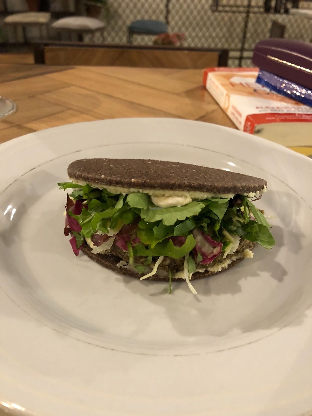 "Photo of Ecru  by <a href=""/members/profile/ArdrossGreens"">ArdrossGreens</a> <br/>Vegan Burger, home made raw mustard, fermented cabbage cream, salad <br/> March 17, 2018  - <a href='/contact/abuse/image/67136/372071'>Report</a>"