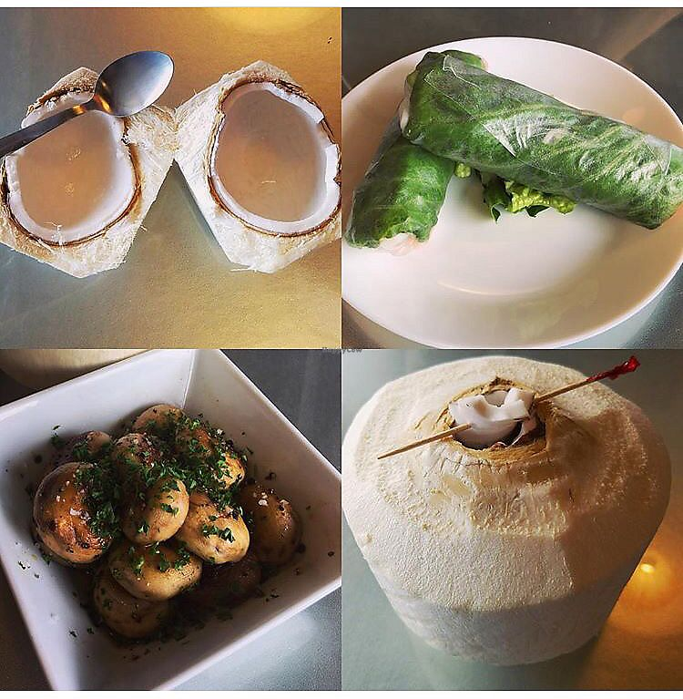 """Photo of Nokturne  by <a href=""""/members/profile/StephanieWilson"""">StephanieWilson</a> <br/>Mushrooms, spring rolls and coconut!  <br/> March 27, 2018  - <a href='/contact/abuse/image/67157/376824'>Report</a>"""
