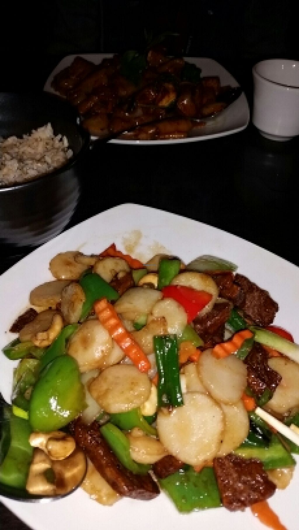 """Photo of Veganic Thai Cafe  by <a href=""""/members/profile/areleous"""">areleous</a> <br/>cashew mock chicken  <br/> January 29, 2016  - <a href='/contact/abuse/image/67161/134134'>Report</a>"""