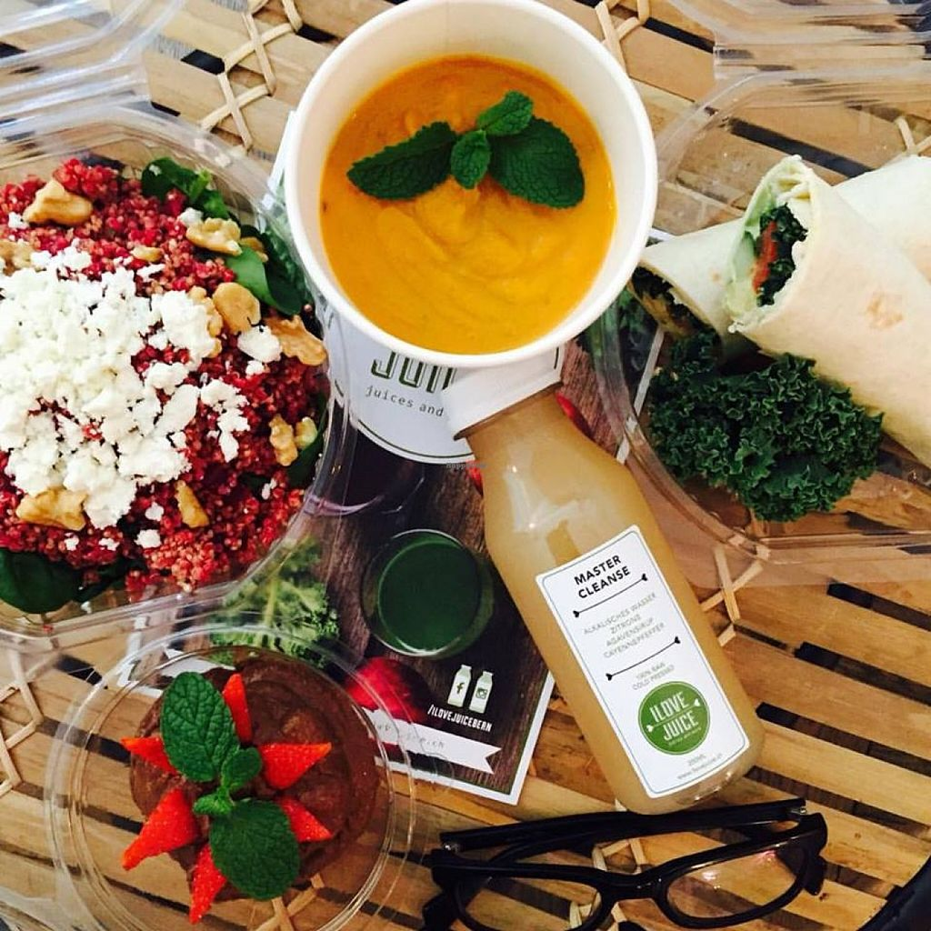 """Photo of I Love Juice  by <a href=""""/members/profile/Tina10"""">Tina10</a> <br/>Soups, Wraps, Cold Pressed Juices & Raw Chocolate Mousse <br/> December 18, 2015  - <a href='/contact/abuse/image/67175/128901'>Report</a>"""