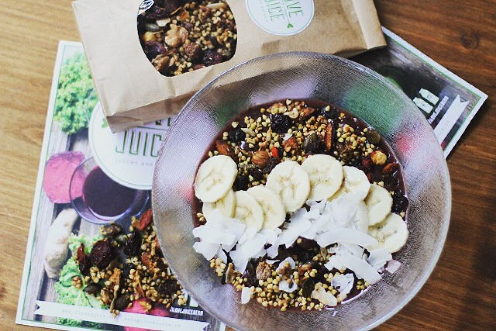 """Photo of I Love Juice  by <a href=""""/members/profile/Tina10"""">Tina10</a> <br/>Home Made Gluten Free Granola & Acai Bowls <br/> December 18, 2015  - <a href='/contact/abuse/image/67175/128902'>Report</a>"""