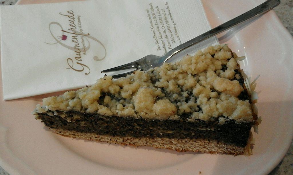"Photo of Konditorei Gaumenfreude - Hüxstr  by <a href=""/members/profile/v_mdj"">v_mdj</a> <br/>vegan cake <br/> September 21, 2017  - <a href='/contact/abuse/image/67180/306907'>Report</a>"