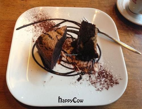 """Photo of Zest  by <a href=""""/members/profile/DJMToronto"""">DJMToronto</a> <br/>Soya Chocolate Fudge Brownie at Zest in Leipzig <br/> December 12, 2012  - <a href='/contact/abuse/image/6722/41560'>Report</a>"""