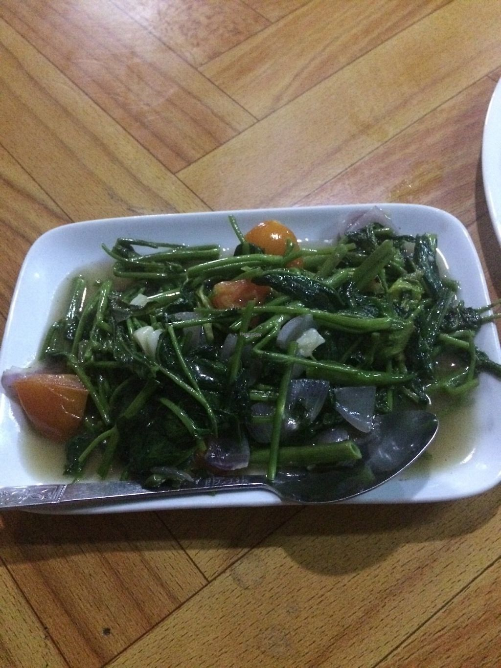 """Photo of Moe Pyae San Vegetarian Restaurant  by <a href=""""/members/profile/Cyclinggal"""">Cyclinggal</a> <br/>Fried water grass <br/> March 29, 2017  - <a href='/contact/abuse/image/67267/242376'>Report</a>"""