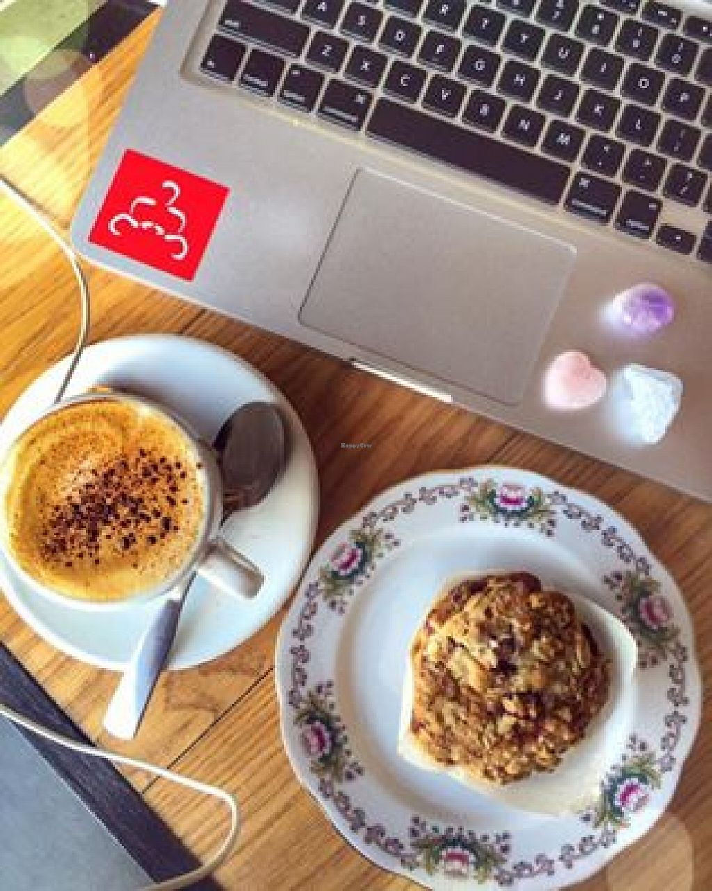"Photo of Cafe Dei Campi  by <a href=""/members/profile/LauraVerbich"">LauraVerbich</a> <br/>Lovely selection of food! Here we have the cranberry muffin (so moist) and almond milk cappuccino <br/> April 5, 2016  - <a href='/contact/abuse/image/67269/142942'>Report</a>"