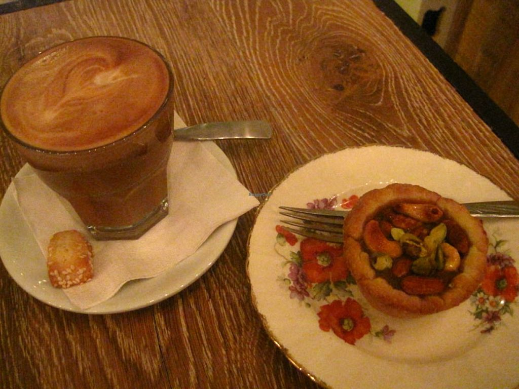 "Photo of Cafe Dei Campi  by <a href=""/members/profile/Babette"">Babette</a> <br/>Caffe Latte with a caramel tarlet. Perfect. The coffee is great and the nutty tartlet is filled with a delicious caramel sauce <br/> July 9, 2016  - <a href='/contact/abuse/image/67269/158551'>Report</a>"