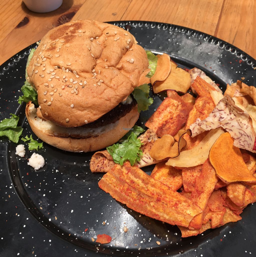"""Photo of Vegan Ville  by <a href=""""/members/profile/Sooz"""">Sooz</a> <br/>Vegan burger <br/> August 7, 2016  - <a href='/contact/abuse/image/67275/166700'>Report</a>"""