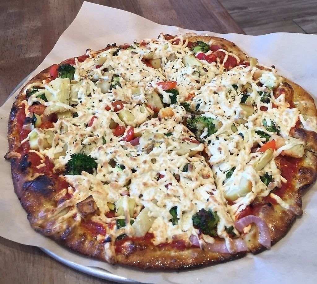 """Photo of Pizza Studio  by <a href=""""/members/profile/kareninpdx"""">kareninpdx</a> <br/>vegan pizza <br/> June 22, 2016  - <a href='/contact/abuse/image/67300/232873'>Report</a>"""