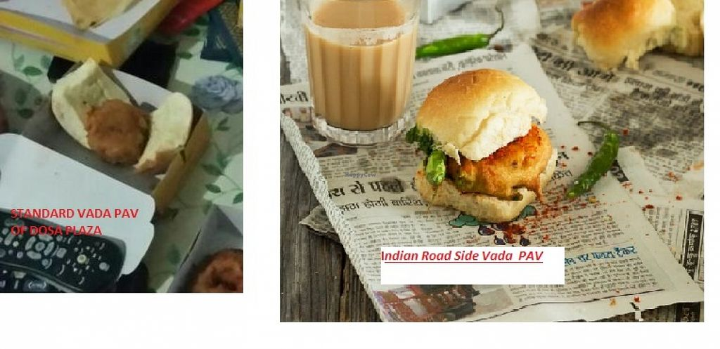 """Photo of CLOSED: Dosa Plaza  by <a href=""""/members/profile/kishore.soma"""">kishore.soma</a> <br/>As yelled by one of the employee working there, See how the standard VADA PAV Of Dosa plaza looks like.  <br/> February 23, 2016  - <a href='/contact/abuse/image/67311/137400'>Report</a>"""