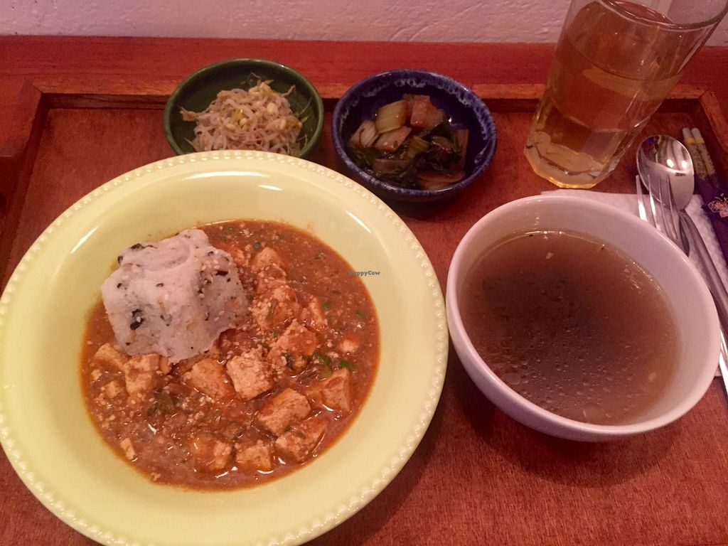 """Photo of Comida Coreana  by <a href=""""/members/profile/GabBatailleur"""">GabBatailleur</a> <br/>Mapo Tofu: comes with everything you see (15 000 pesos) <br/> December 21, 2015  - <a href='/contact/abuse/image/67347/129389'>Report</a>"""