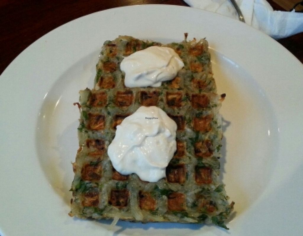 """Photo of CLOSED: Wild Rice Vegan Cafe  by <a href=""""/members/profile/slithers"""">slithers</a> <br/>Hash brown waffles (gluten-free) <br/> January 10, 2016  - <a href='/contact/abuse/image/67391/131931'>Report</a>"""