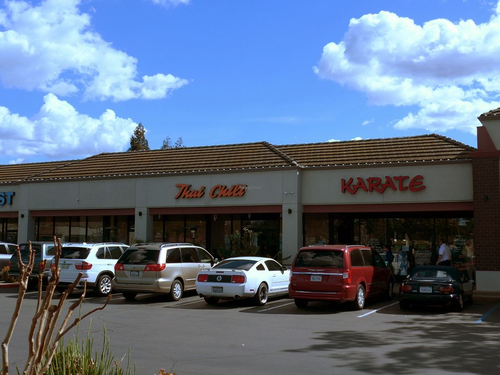 """Photo of Thai Chili  by <a href=""""/members/profile/karl8704"""">karl8704</a> <br/>The front of Thai Chili, between the UPS store and La Bou's <br/> March 22, 2016  - <a href='/contact/abuse/image/67394/140968'>Report</a>"""
