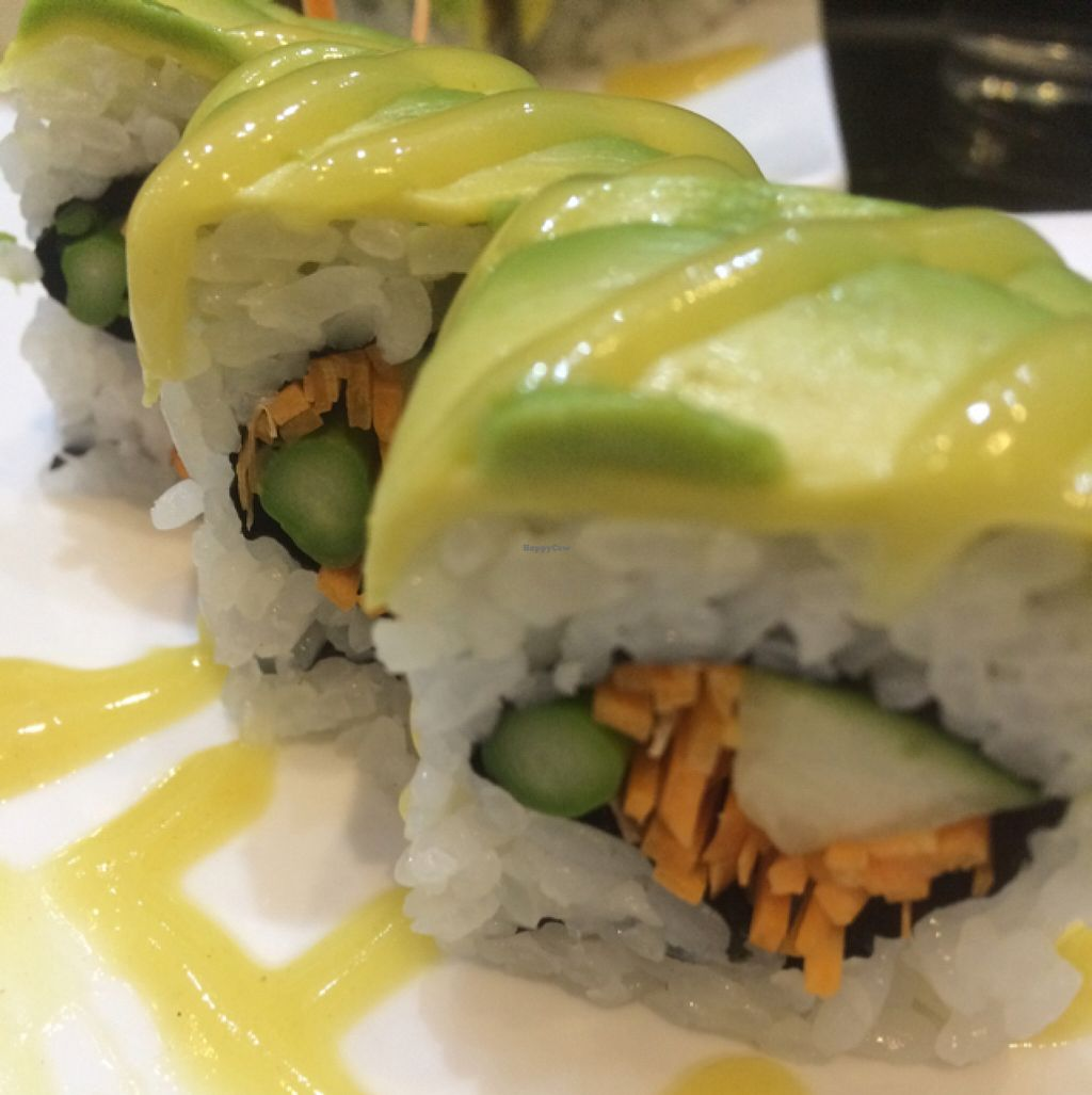 """Photo of Aisuru Sushi  by <a href=""""/members/profile/junglechick"""">junglechick</a> <br/>Sushi roll  <br/> March 5, 2016  - <a href='/contact/abuse/image/67407/138911'>Report</a>"""