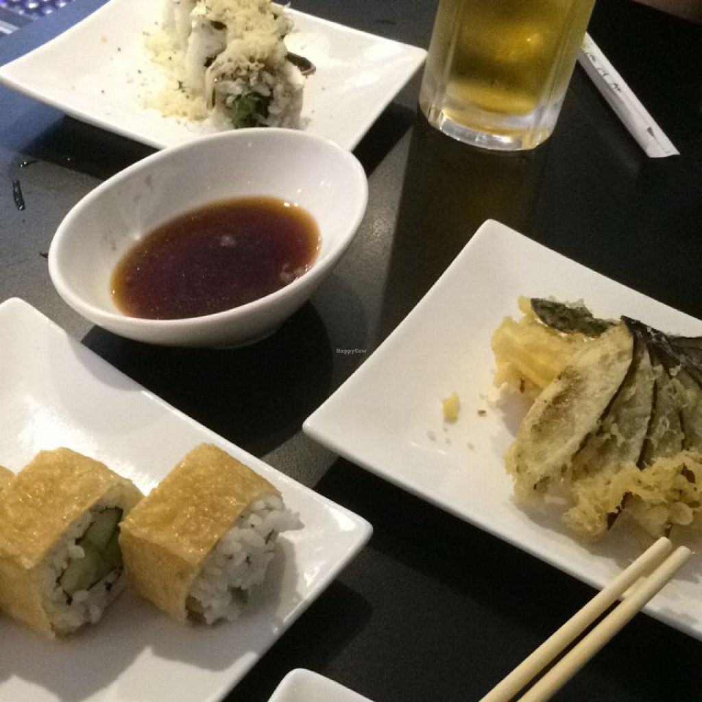 """Photo of Aisuru Sushi  by <a href=""""/members/profile/Brinielou"""">Brinielou</a> <br/>tempura veg and vegan sushi <br/> May 9, 2016  - <a href='/contact/abuse/image/67407/148117'>Report</a>"""