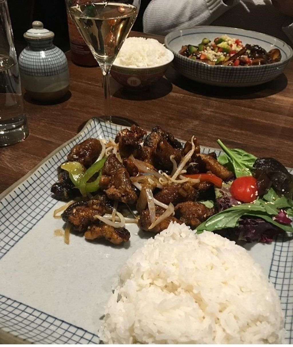 """Photo of Odd Couple  by <a href=""""/members/profile/wildflowerc"""">wildflowerc</a> <br/>vegan ginger mushrooms & rice  <br/> August 4, 2016  - <a href='/contact/abuse/image/67414/165387'>Report</a>"""