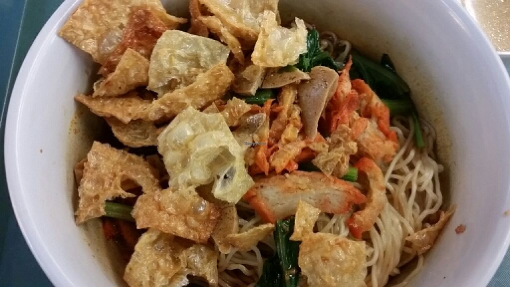 """Photo of Ming Shan Vegetarian Food Stall  by <a href=""""/members/profile/JimmySeah"""">JimmySeah</a> <br/>Dry noodle with mock meat <br/> December 21, 2015  - <a href='/contact/abuse/image/67424/129398'>Report</a>"""