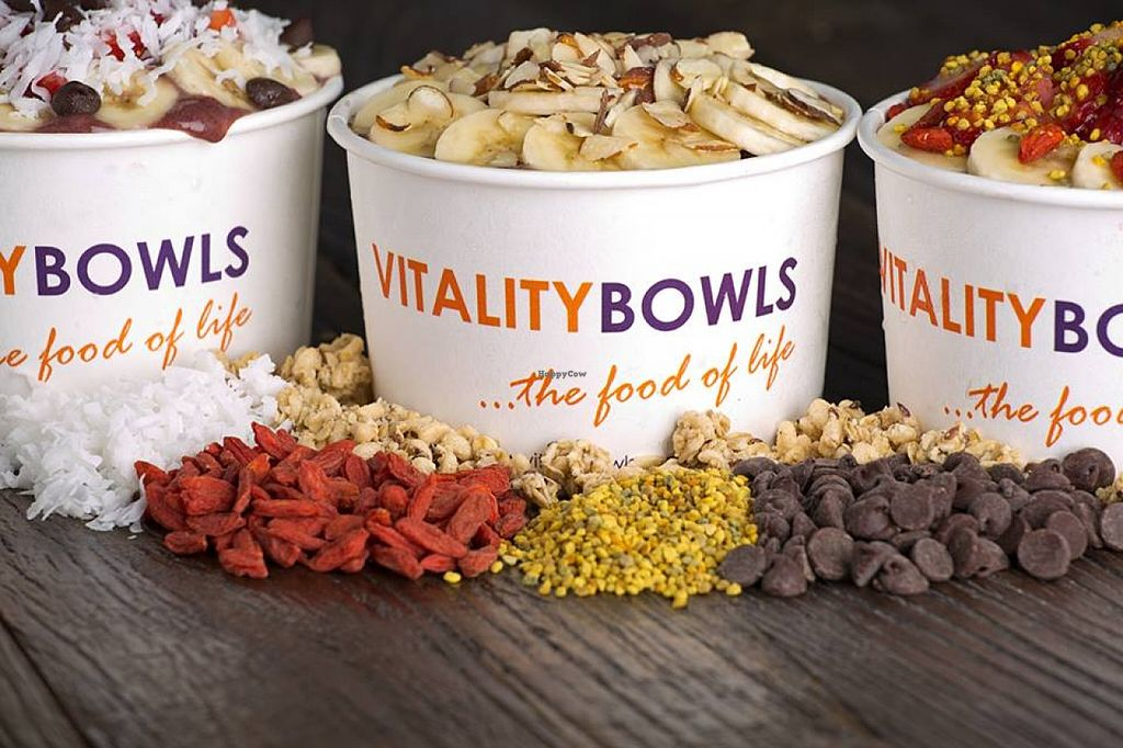 """Photo of Vitality Bowls  by <a href=""""/members/profile/community"""">community</a> <br/>Acai Bowls  <br/> January 6, 2016  - <a href='/contact/abuse/image/67439/131257'>Report</a>"""
