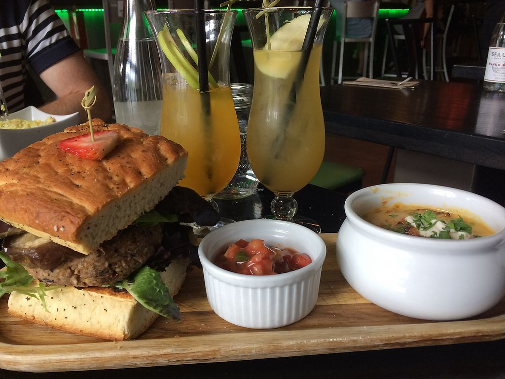 "Photo of Nourish Bistro  by <a href=""/members/profile/JenniferLees"">JenniferLees</a> <br/>360 burger with cheezy, gravy chips ?? <br/> June 24, 2017  - <a href='/contact/abuse/image/6744/272810'>Report</a>"