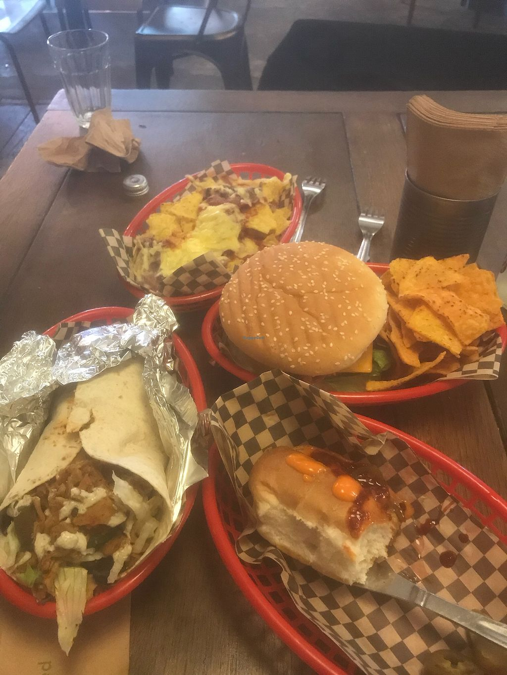 """Photo of Vx  by <a href=""""/members/profile/BryanCyrilWatt"""">BryanCyrilWatt</a> <br/>Junk-tastic vegan food! <br/> March 8, 2018  - <a href='/contact/abuse/image/67456/368274'>Report</a>"""