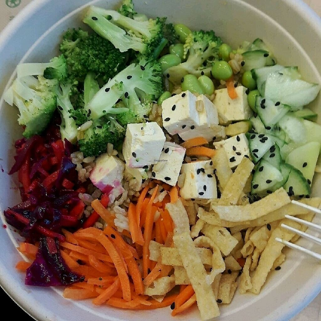 """Photo of freshii  by <a href=""""/members/profile/TofuForMe"""">TofuForMe</a> <br/>Teriyaki rice bowl <br/> September 9, 2017  - <a href='/contact/abuse/image/67480/302294'>Report</a>"""