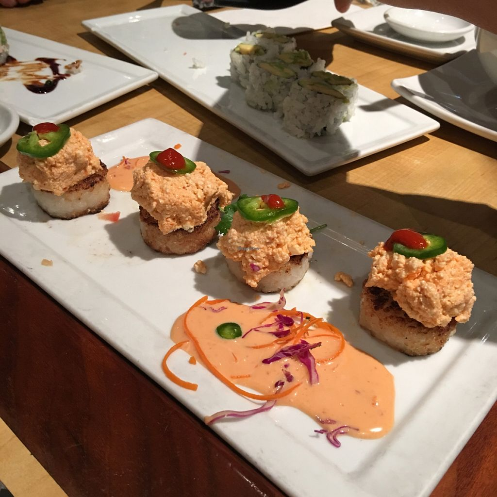 """Photo of Kabuki - Cerritos  by <a href=""""/members/profile/xmrfigx"""">xmrfigx</a> <br/>Spicy Tofu on Crispy Rice <br/> December 23, 2015  - <a href='/contact/abuse/image/67486/129625'>Report</a>"""