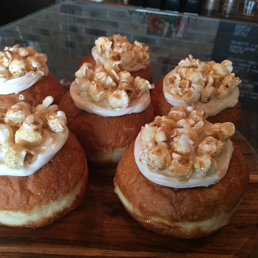 "Photo of All-Time Coffee Co.  by <a href=""/members/profile/ElleHoward"">ElleHoward</a> <br/>Caramel popcorn vegan donut with a maple drizzle  <br/> December 24, 2015  - <a href='/contact/abuse/image/67494/129715'>Report</a>"