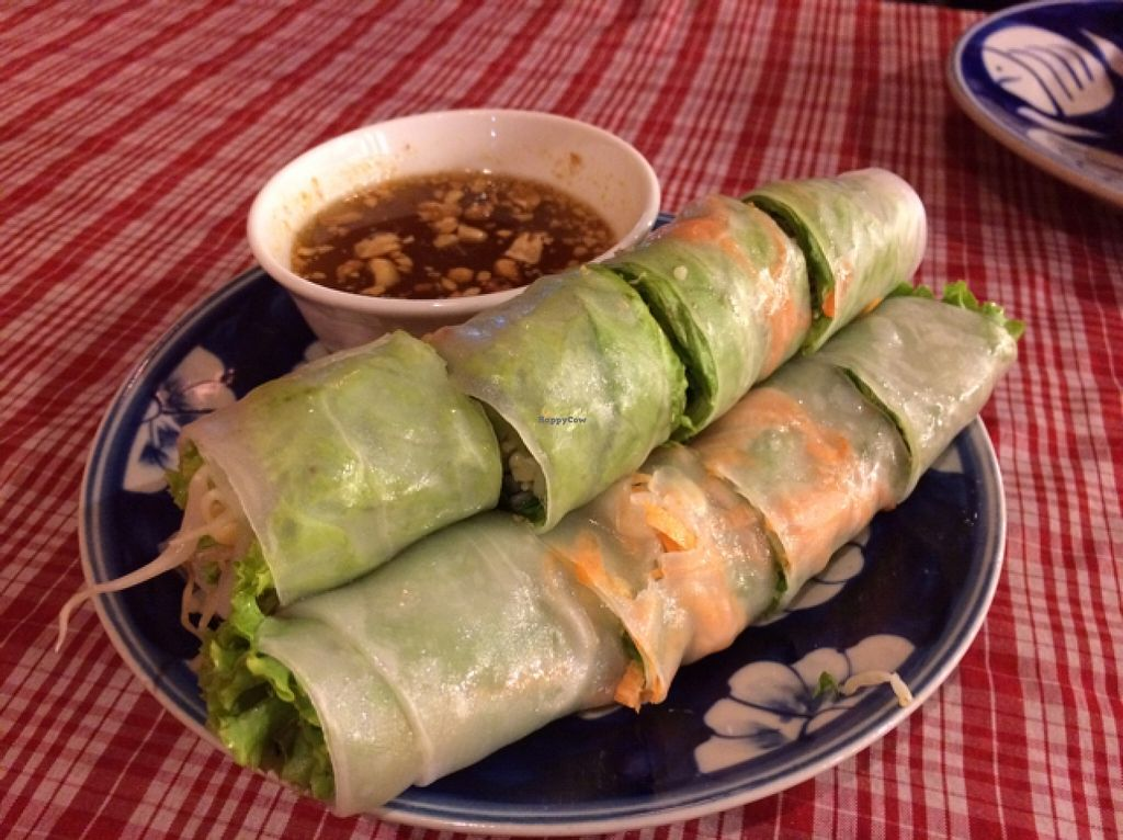 """Photo of Khmer Kitchen Restaurant   by <a href=""""/members/profile/Siup"""">Siup</a> <br/>fresh Spring rolls <br/> December 25, 2015  - <a href='/contact/abuse/image/67504/129748'>Report</a>"""