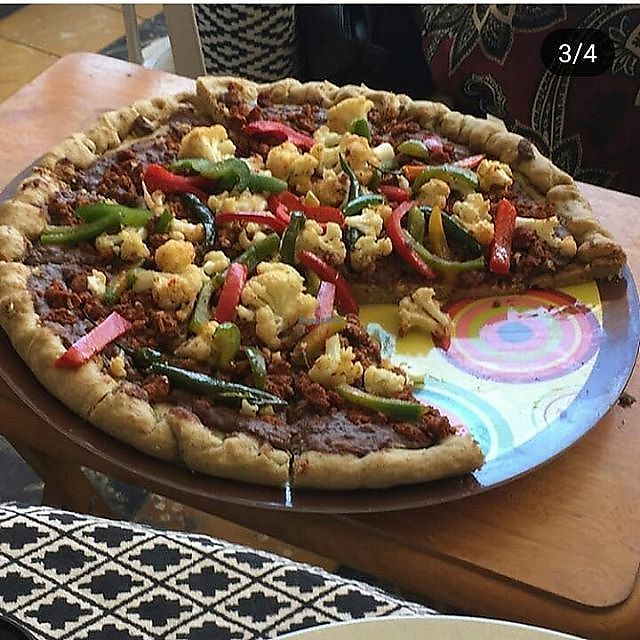"""Photo of La Cocina de Sofia  by <a href=""""/members/profile/MexicanVeganPower"""">MexicanVeganPower</a> <br/>Mexican Artisan Pizza <br/> March 28, 2018  - <a href='/contact/abuse/image/67508/377545'>Report</a>"""