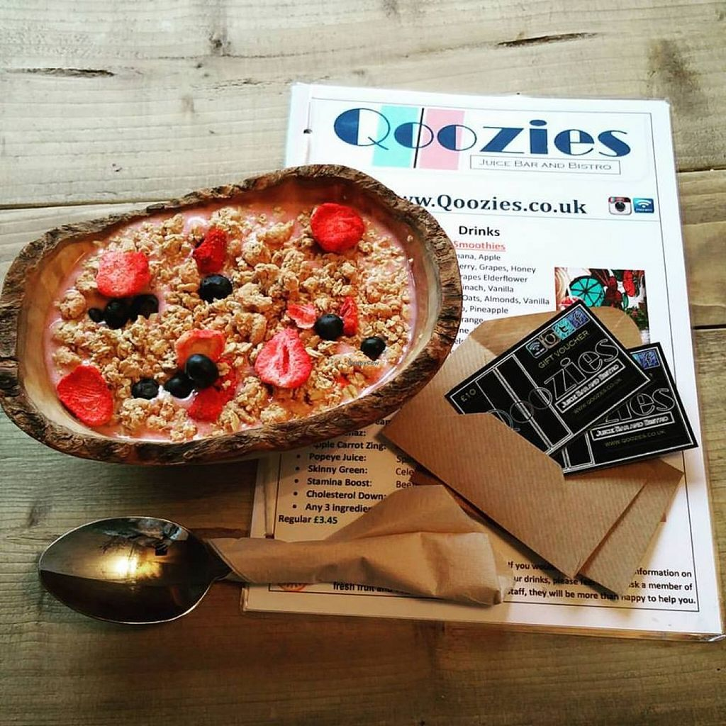 """Photo of Qoozies  by <a href=""""/members/profile/community"""">community</a> <br/>Energy Boost smoothie bowl with berry granola  <br/> January 5, 2016  - <a href='/contact/abuse/image/67512/131205'>Report</a>"""