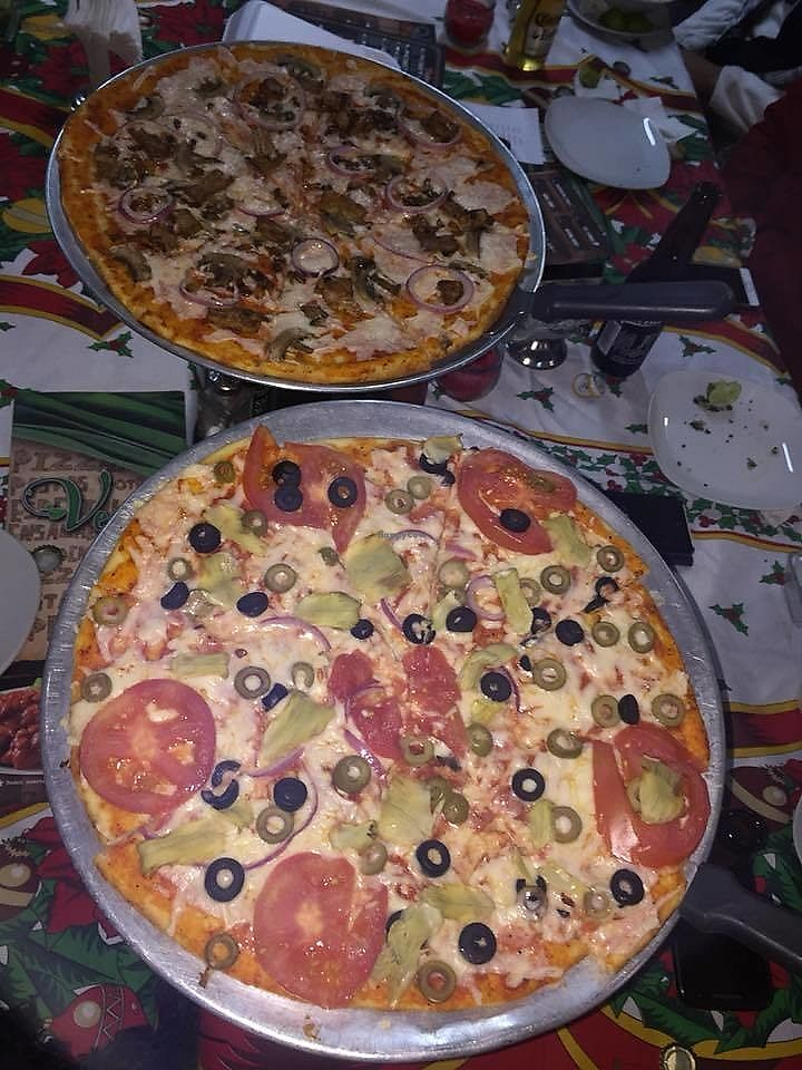"""Photo of Pizza Rock  by <a href=""""/members/profile/fabiolamm"""">fabiolamm</a> <br/>Vegan pizza with vegan mozzarella <br/> March 10, 2018  - <a href='/contact/abuse/image/67535/368980'>Report</a>"""