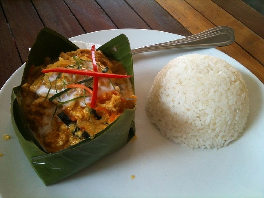 """Photo of My Little Cafe  by <a href=""""/members/profile/CaluCalu"""">CaluCalu</a> <br/>Mushroom Amok (vegetarian Version of Fish Amok, Khmer specialty) - with egg! <br/> December 28, 2015  - <a href='/contact/abuse/image/67564/130125'>Report</a>"""
