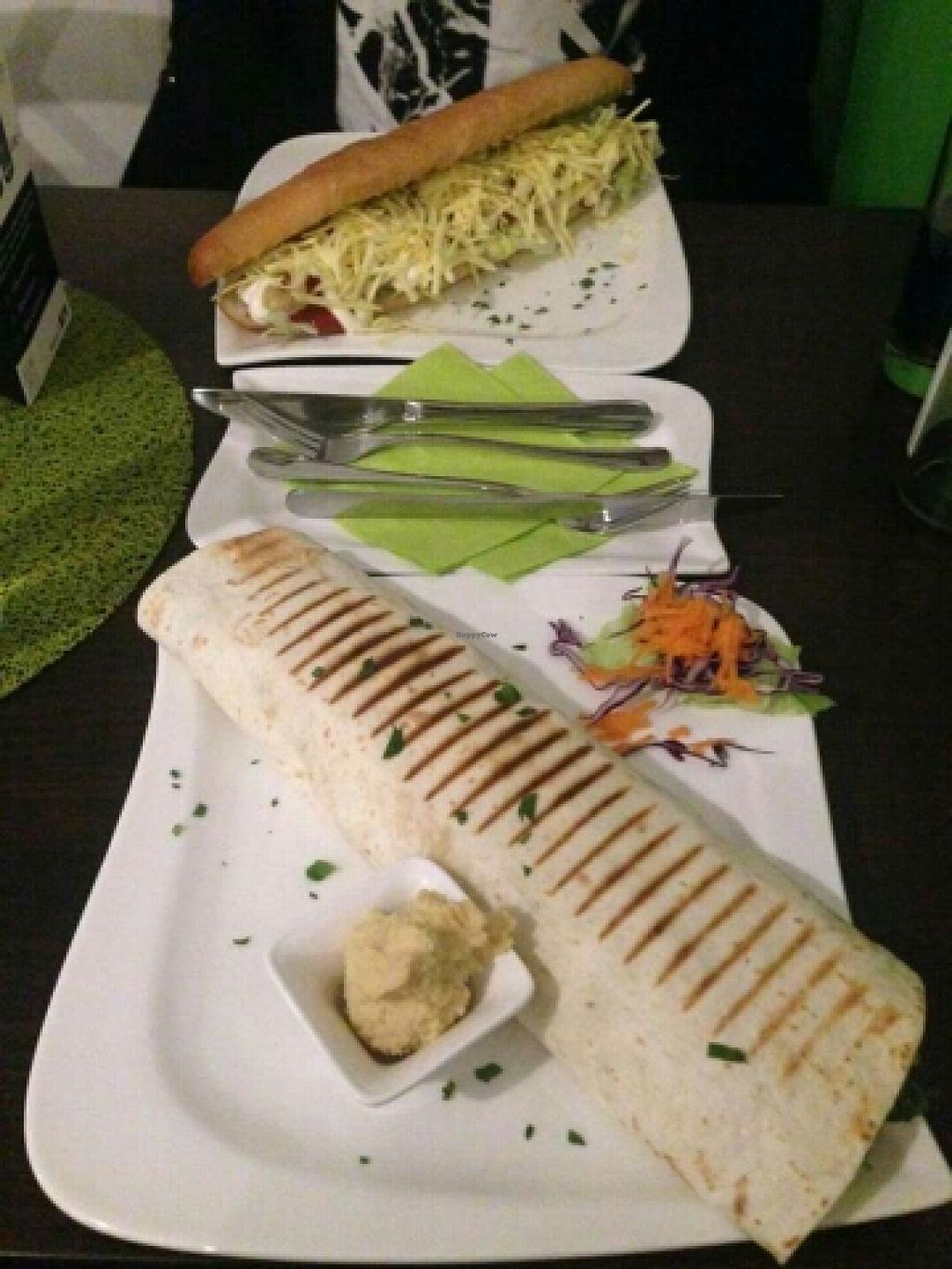 "Photo of CLOSED: Cafe Grun  by <a href=""/members/profile/Sonni"">Sonni</a> <br/>Cheese Hot Dog and Tofu Hummus Wrap <br/> March 18, 2016  - <a href='/contact/abuse/image/67608/140378'>Report</a>"