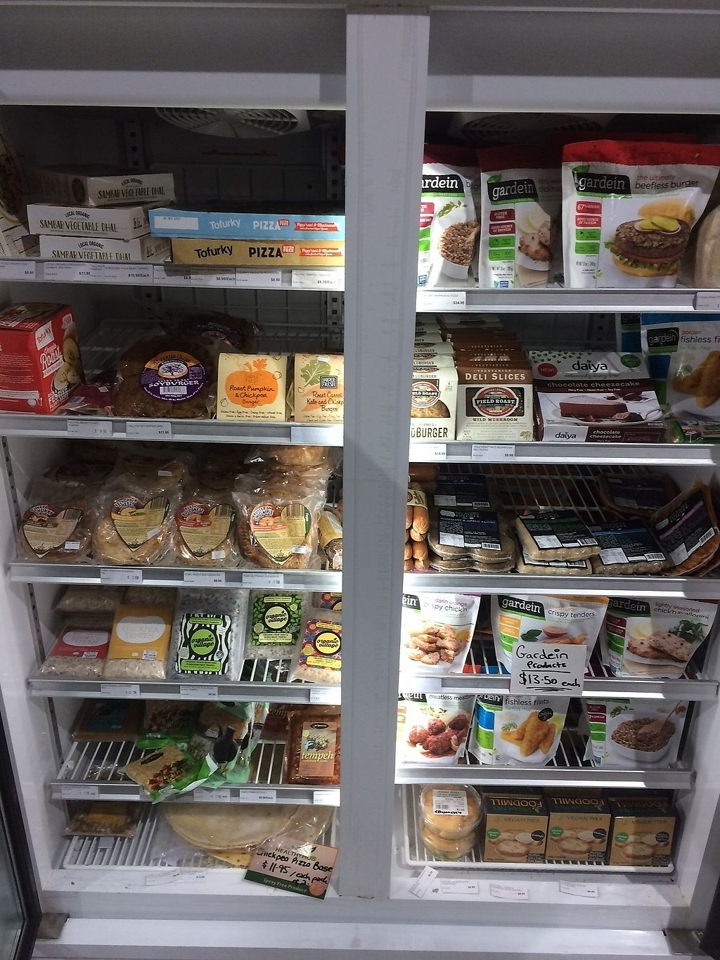"""Photo of The Healthy Hub  by <a href=""""/members/profile/AlisonDonnelly"""">AlisonDonnelly</a> <br/>Vegan meats & frozen products freezer <br/> November 20, 2017  - <a href='/contact/abuse/image/67627/327362'>Report</a>"""