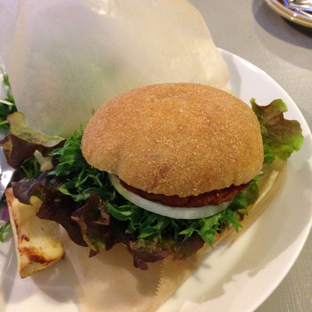 "Photo of Ginger & Pickles Cafe and Store  by <a href=""/members/profile/Tbms1992"">Tbms1992</a> <br/>Vegan burger <br/> February 2, 2016  - <a href='/contact/abuse/image/67633/134658'>Report</a>"