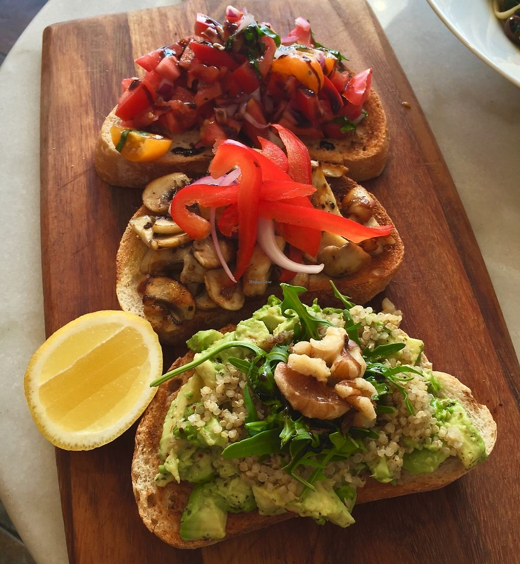 "Photo of La Veneta  by <a href=""/members/profile/karlaess"">karlaess</a> <br/>Trio of bruschetta  <br/> December 29, 2015  - <a href='/contact/abuse/image/67636/260192'>Report</a>"