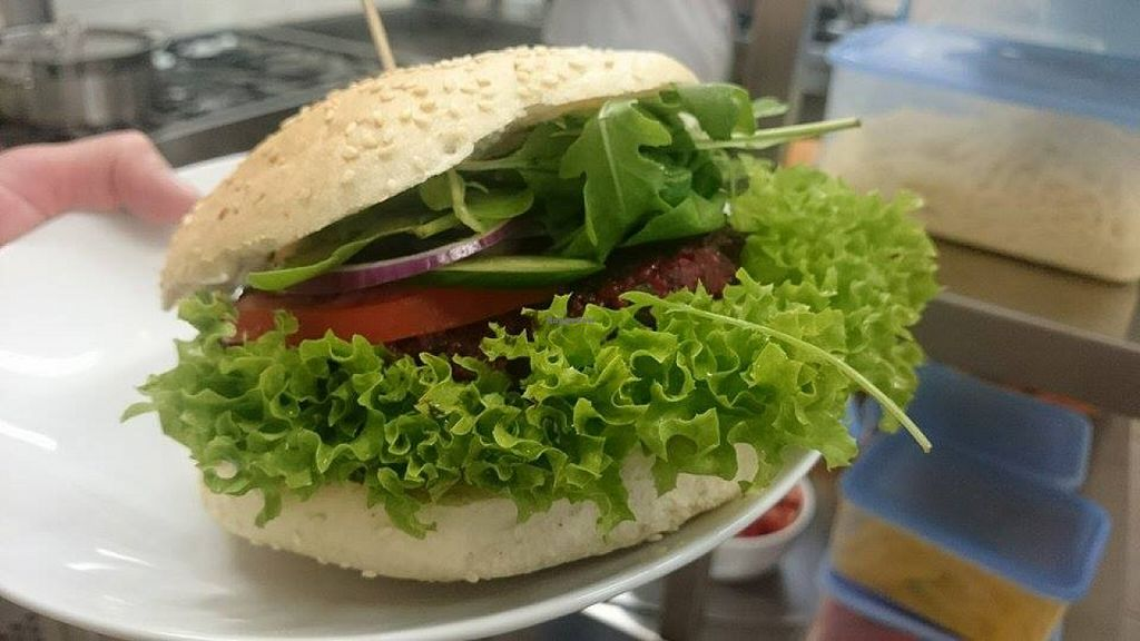 """Photo of Mountain Bar  by <a href=""""/members/profile/community"""">community</a> <br/>veggie burger  <br/> January 8, 2016  - <a href='/contact/abuse/image/67678/131548'>Report</a>"""