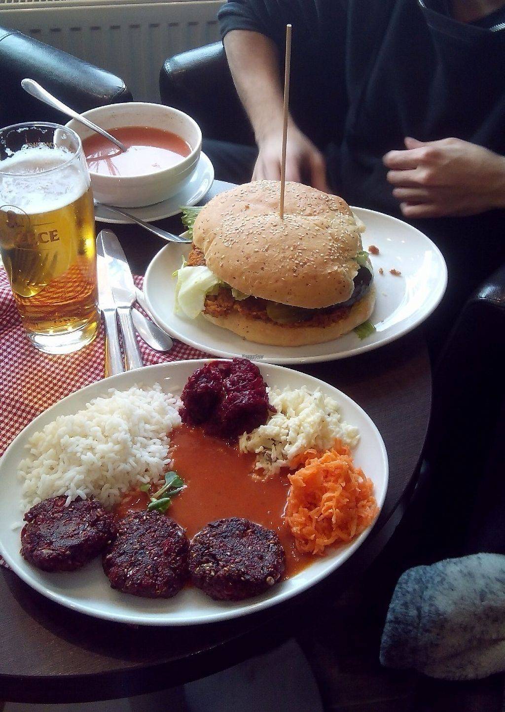 """Photo of Mountain Bar  by <a href=""""/members/profile/bdzsfi"""">bdzsfi</a> <br/>Fastburger and Beetroot kotlet <br/> February 2, 2017  - <a href='/contact/abuse/image/67678/221370'>Report</a>"""