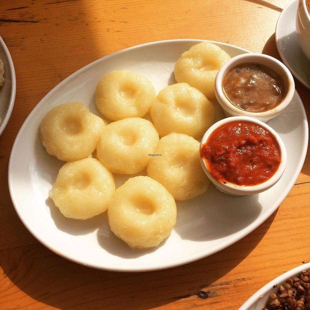 """Photo of Mountain Bar  by <a href=""""/members/profile/saretap"""">saretap</a> <br/>Gnochhi like dumplings with mushroom and tomato sauces <br/> May 25, 2017  - <a href='/contact/abuse/image/67678/262494'>Report</a>"""