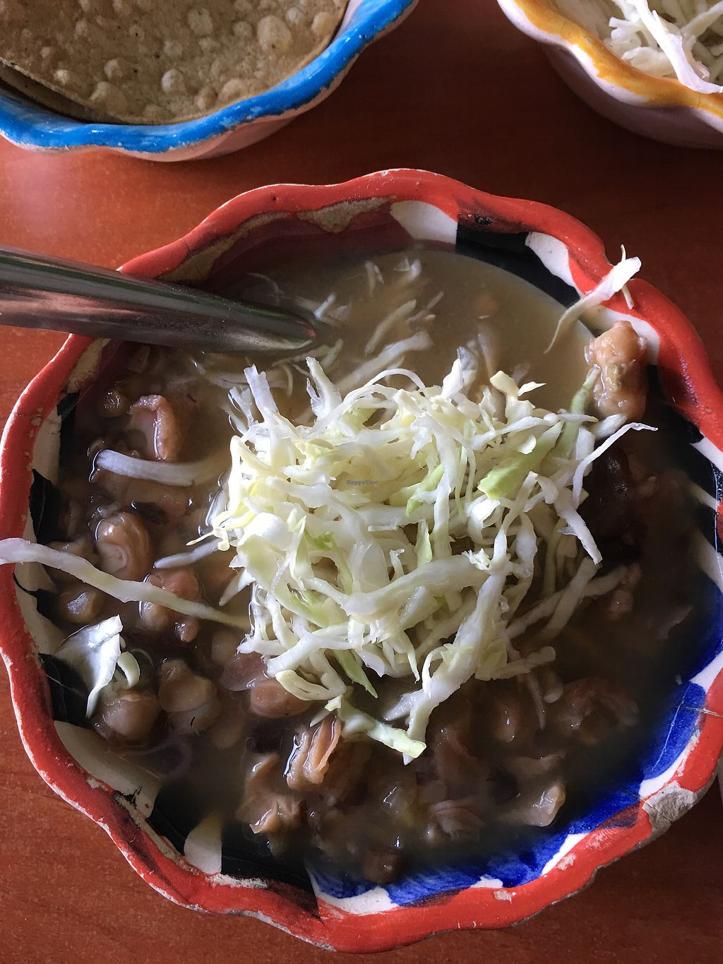 "Photo of Pozole Vegetariano Tia Ofe  by <a href=""/members/profile/readyourworld"">readyourworld</a> <br/>Vegan pozole <br/> January 12, 2018  - <a href='/contact/abuse/image/67681/345898'>Report</a>"