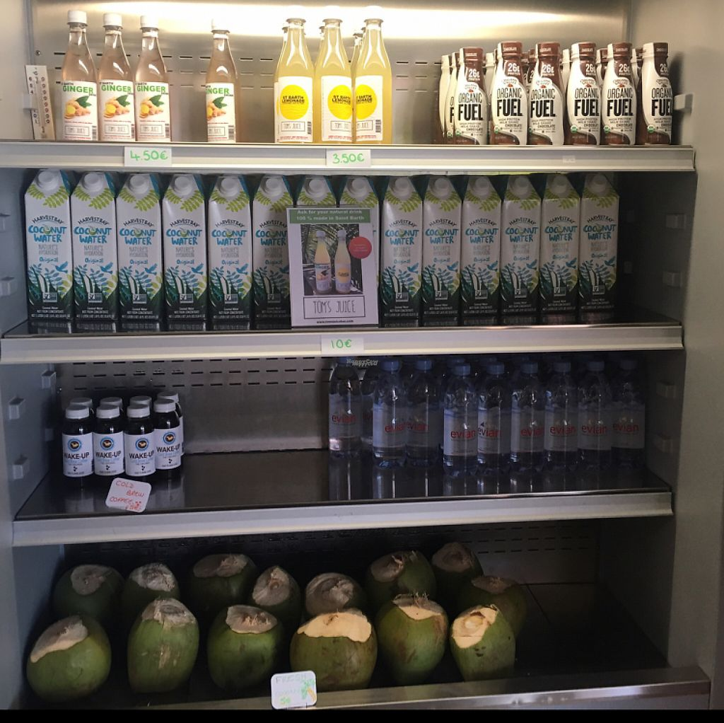 """Photo of Tom's Juice Bar  by <a href=""""/members/profile/veganmom"""">veganmom</a> <br/>juices  <br/> November 24, 2016  - <a href='/contact/abuse/image/67688/193929'>Report</a>"""