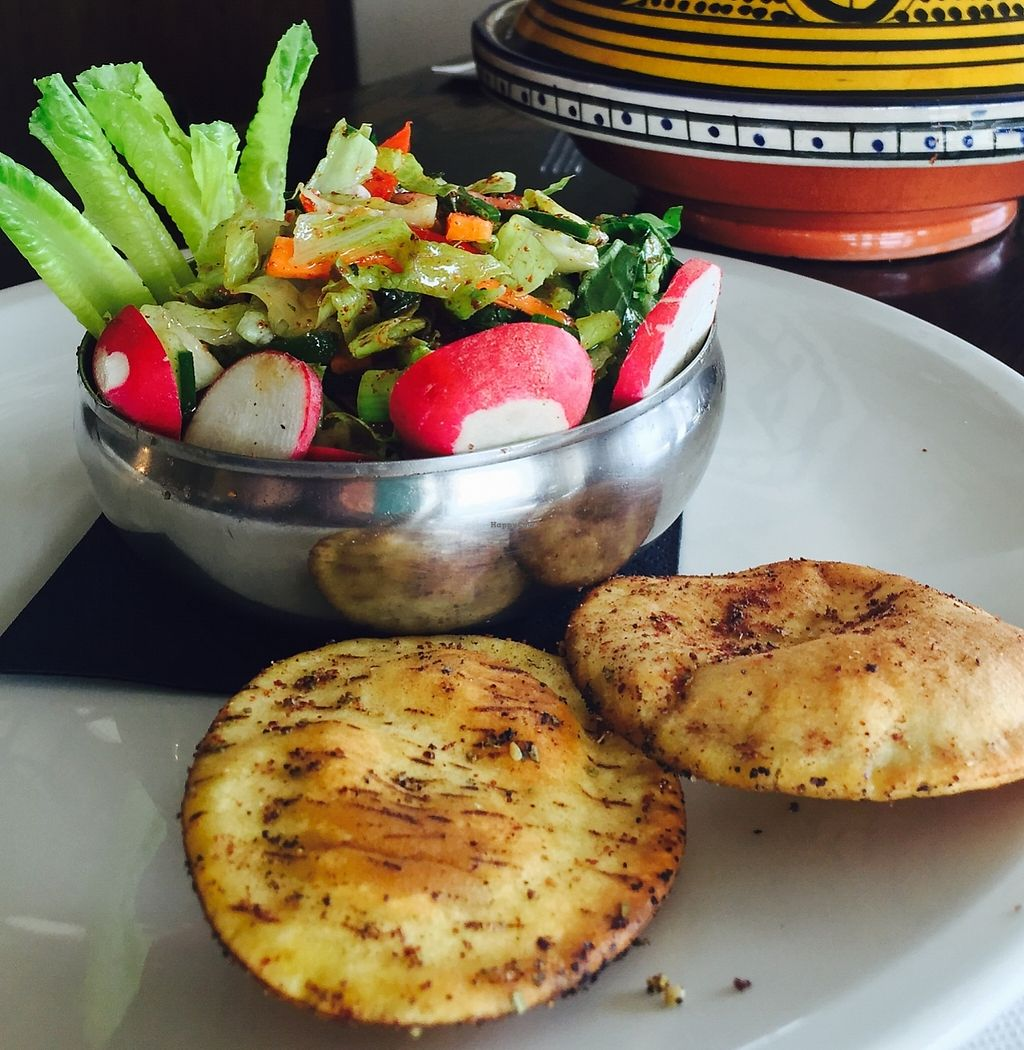 """Photo of 1001 Nights Restaurant & Cafe  by <a href=""""/members/profile/karlaess"""">karlaess</a> <br/>Fatoush salad <br/> January 5, 2016  - <a href='/contact/abuse/image/67693/260197'>Report</a>"""